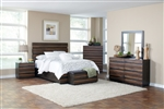 Octavia 6 Piece Bedroom Set in Coffee and Sappy Walnut Finish by Coaster - 205121
