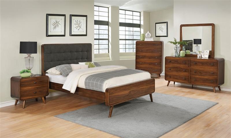 Robyn 6 Piece Bedroom Set in Dark Walnut Finish by Coaster - 205131