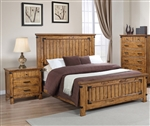 Brenner Panel Bed in Rustic Honey Finish by Coaster - 205261Q