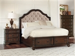 Ilana Upholstered Storage Bed in Antique Java Finish by Coaster - 205280Q