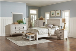 Franco 6 Piece Bedroom Set in Antique White Finish by Coaster - 205331