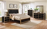 Zovatto 6 Piece Bedroom Set in Black and Gold Finish by Coaster - 205341