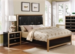 Zovatto Bed in Black and Gold Finish by Coaster - 205341Q