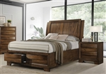 Hunter Storage Bed in Cognac Finish by Coaster - 205350Q