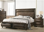 Preston Storage Bed in Rustic Chestnut Finish by Coaster - 205440Q