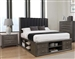 Phoenix Storage Platform Bed in Coco Grey Finish by Coaster - 205470Q