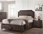 Richmond Storage Bed in Dark Grey Oak Finish by Coaster - 205710Q