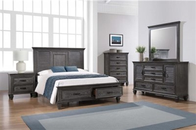Franco 6 Piece Storage Bed Bedroom Set in Weathered Sage Finish by Coaster - 205730