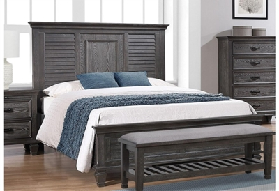 Franco Panel Bed in Weathered Sage Finish by Coaster - 205731Q