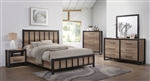 Edgewater 6 Piece Bedroom Set in Weathered Oak Finish by Coaster - 206271