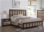 Edgewater Bed in Weathered Oak Finish by Coaster - 206271Q