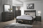 Decker Storage Bed 6 Piece Bedroom Set in Brownish Graphite Finish by Coaster - 206280