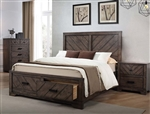 Lawndale Storage Bed in Dark Brown Finish by Coaster - 206300Q
