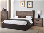 Weston Bed in Weathered Oak / Rustic Coffee Finish by Coaster - 206311Q
