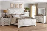 Celeste 6 Piece Bedroom Set in Rustic Latte and Vintage White Finish by Coaster - 206461