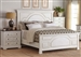 Celeste Panel Bed in Rustic Latte and Vintage White Finish by Coaster - 206461Q