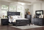 Celeste 6 Piece Bedroom Set in Rustic Latte and Vintage Black Finish by Coaster - 206471