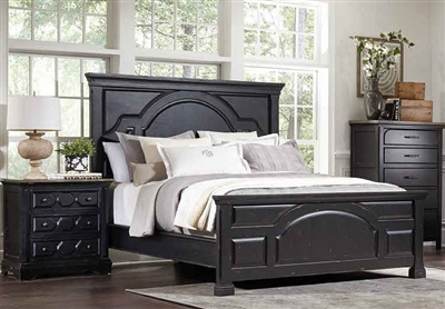 Celeste Panel Bed in Rustic Latte and Vintage Black Finish by Coaster - 206471Q