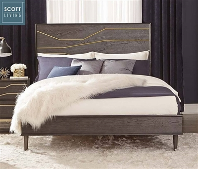 Goodwin Bed in Graphite Finish by Scott Living - 207011Q