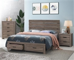 Brantford Storage Bed in Barrel Oak Finish by Coaster - 207040Q