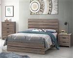 Brantford Bed in Barrel Oak Finish by Coaster - 207041Q