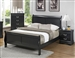 Louis Philippe Sleigh Bed in Black Finish by Coaster - 212411Q