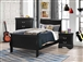 Louis Philippe 4 Piece Youth Bedroom Set in Black Finish by Coaster - 212411T