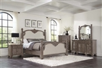 Jenna Poster Bed 6 Piece Bedroom Set in Vintage Grey Finish by Coaster - 215681