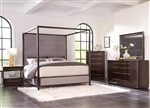 Luddington Canopy Bed 6 Piece Bedroom Set in Smoked Peppercorn Finish by Scott Living - 215710
