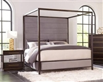 Luddington Canopy Bed in Smoked Peppercorn Finish by Scott Living - 215710Q