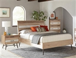 Marlow Platform Bed in Rough Sawn Multi Finish by Coaster - 215761Q