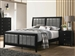 Carlton Bed in Black Finish by Coaster - 215861Q