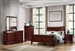 Louis Philippe 6 Piece Bedroom Set in Cherry Finish by Coaster - 222411
