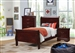 Louis Philippe 4 Piece Youth Bedroom Set in Cherry Finish by Coaster - 222411T