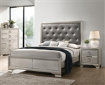 Salford Bed in Metallic Sterling Finish by Coaster - 222721Q