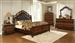 Exeter Tufted Upholstered Sleigh Bed 6 Piece Bedroom Set in Dark Burl Finish by Coaster - 222751