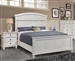 Carolina Panel Bed in Antique White Finish by Coaster - 222871Q