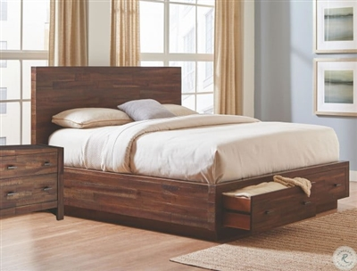 Biloxi Storage Bed in Varied Coffee Finish by Coaster - 222910Q