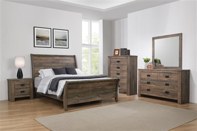 Frederick 6 Piece Bedroom Set in Weathered Oak Finish by Coaster - 222961
