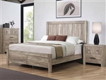 Adelaide Bed in Rustic Oak Finish by Coaster - 223101Q