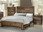 Sidney Bed in Rustic Pine Finish by Coaster - 223141Q