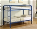 Morgan Twin Twin Bunk Bed in Blue Finish by Coaster - 2256B