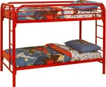 Twin/Twin Bunk Bed in Red Finish by Coaster - 2256R