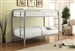 Morgan Twin Twin Bunk Bed in Silver Finish by Coaster - 2256V