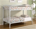 Morgan Twin Twin Bunk Bed in White Finish by Coaster - 2256W