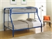 Morgan Twin Full Bunk Bed in Blue Finish by Coaster - 2258B