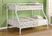 Morgan Twin Full Bunk Bed in White Finish by Coaster - 2258W