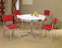 Cleveland Round Table 5 Piece Dining Set by Coaster - 2388R