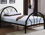 Twin Bed in Black Finish by Coaster - 2389B