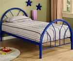 Twin Bed in Blue Finish by Coaster - 2389N